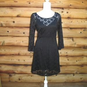 Laundry by Shelli Segal Black Lace Dress